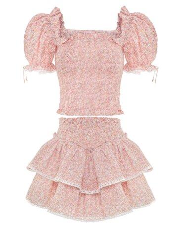 Piękna bawełniana spódnica z falbanami - idealna na lato, LOVIN