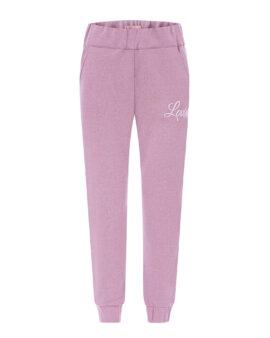 Miękkie, bawełniane spodnie dresowe w pięknym kolorze violet, LOVIN