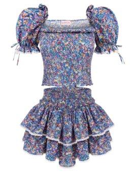 Zwiewna spódnica w kwiaty, idealna na lato. Uszyta z przemiłej wiskozy, LOVIN