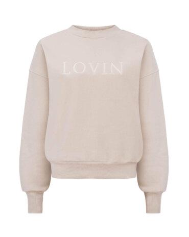 Miła w dotyku, miękka, bawełniana bluza dresowa w pięknym beżowym odcieniu, LOVIN