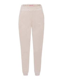 Bawełniane spodnie dresowe w miękkim, beżowym kolorze, LOVIN