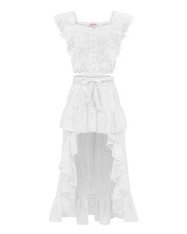Beautiful eye-catching white cotton skirt, LOVIN