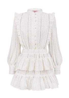 Ekskluzywna, bawełniana sukienka z bawełny Emily Ivory, LOVIN