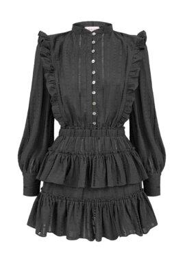 Elegancka, czarna sukienka z bawełny Emily Stone LOVIN.