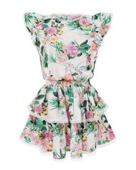 Piękna, kolorowa, sukienka na lato w kwieciste wzory uszyta z przemiłej wiskozy, LOVIN