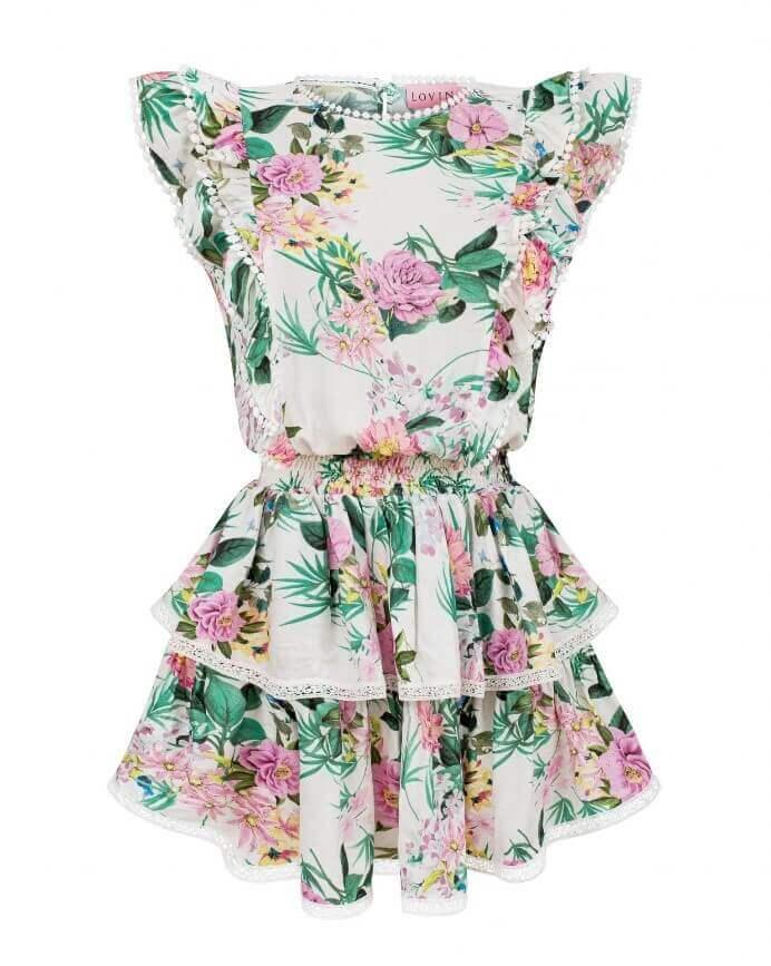 Piękna, wykonana z bawełny zwiewna sukienka na lato LOVIN